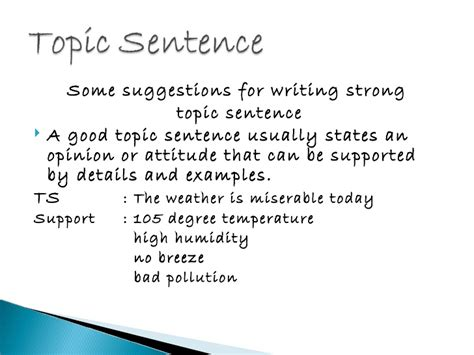 How To Make A Topic Sentence For A Research Paper - how to write a topic sentence for a report