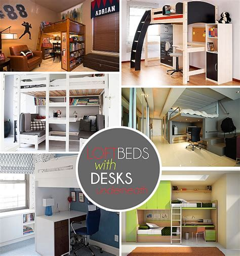 loft bed with desk underneath loft beds with desks underneath 30 design ideas with