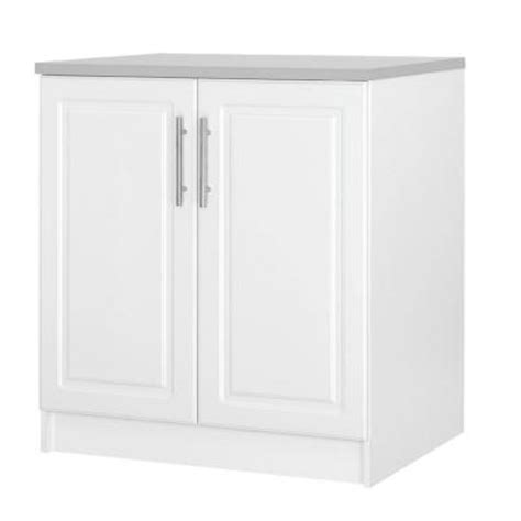hton bay select 2 door mdf base cabinet in white