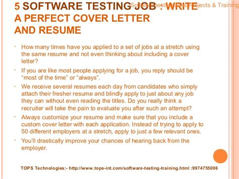 cover letter for software testing how to get a software testing as a fresher