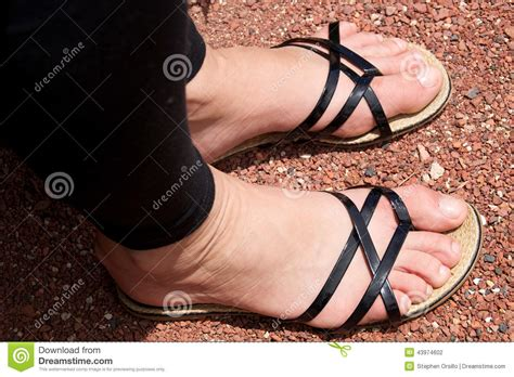 wearing sandals in sandals stock photo image 43974602