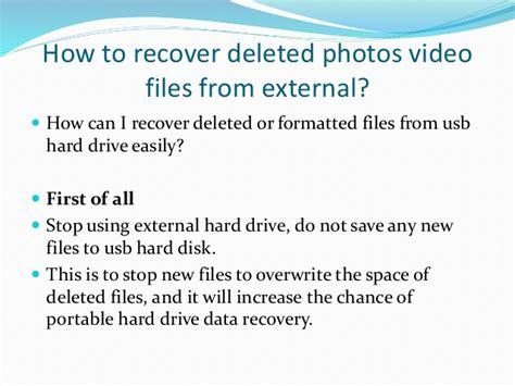 format external hard drive keep data external hard drive data recovery free to undelete files