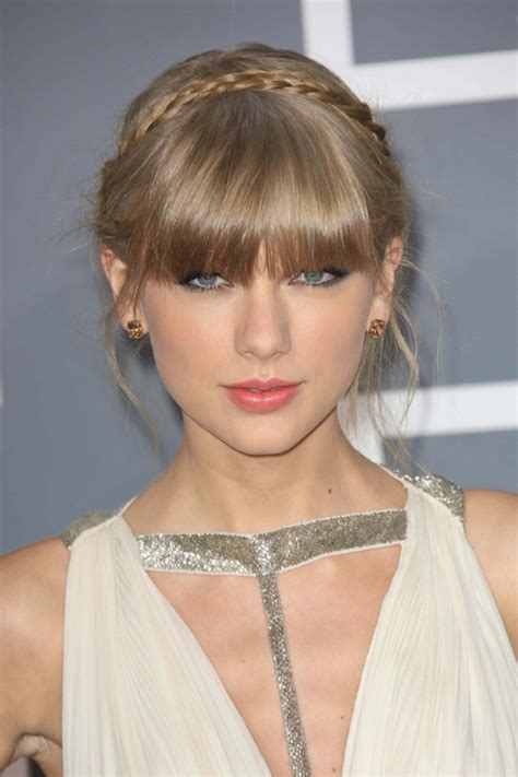 big braids with a bang taylor swift braided updo images