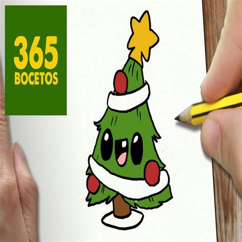 imágenes kawaii de navidad o dibujar arbol navidad kawaii paso a paso dibujos kawaii