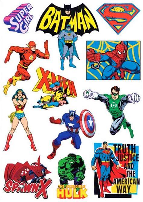 Comic Aufkleber by Vintage Stickers A4 Page Set