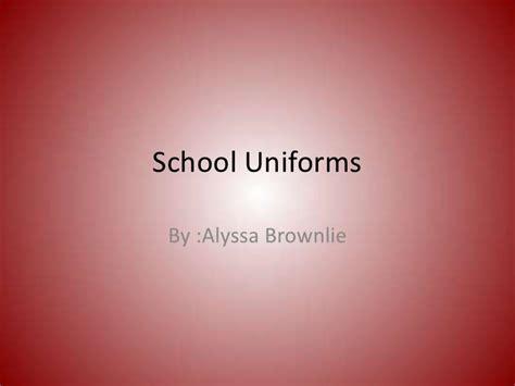 pros and cons of school uniforms debate essay statistics project