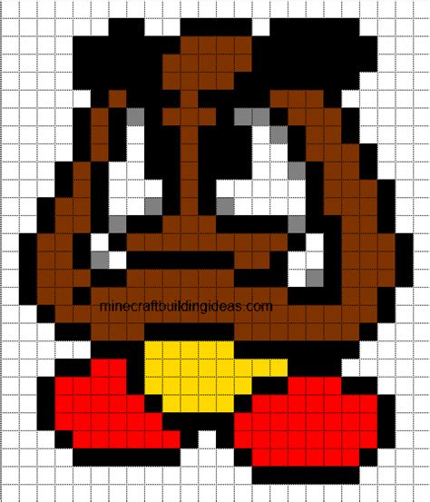 minecraft pixel template maker goomba