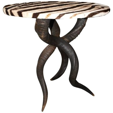 Zebra Side Table Zebra Side Table With Kudu Horns For Sale At 1stdibs
