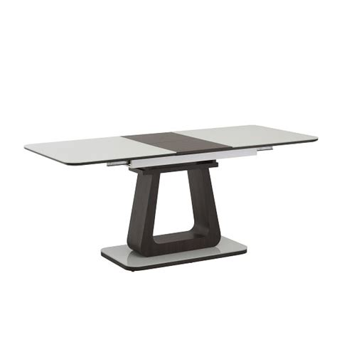 Cannes Dining Table Cannes Extendable Glass Dining Table In White With Cocoa