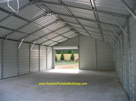 24 X 40 Garage by 24x40x9 Boxed Eave Garage