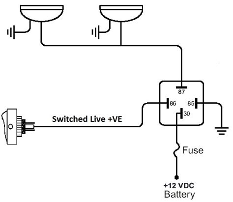 relay 4 pin wiring diagram wiring diagram and schematic