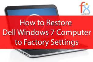 resetting windows vista to factory settings without cd windows 7 factory reset without disk quot dell youtube