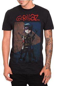 Tshirt Gorillaz Blue B C gorillaz band artwork t shirt artworks band and gorillaz