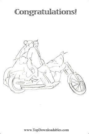 Harley Davidson Wedding Card