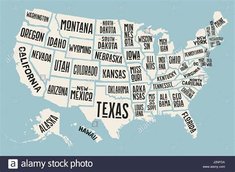 map of the united states with names map of the united states of america with state names