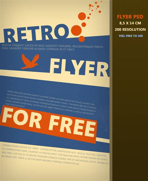 flyer layout template photoshop retro flyer psd by martz90 on deviantart