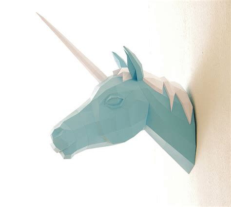 Papercraft Unicorn - papercraft unicorn paper trophy number 2 horn trilogy