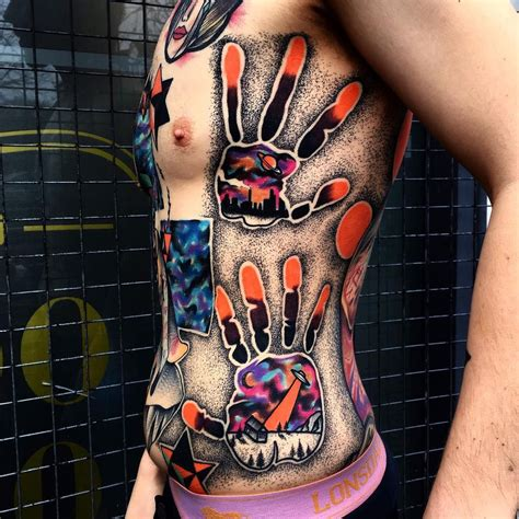hand print tattoo prints done in the most elab way possible tattoos