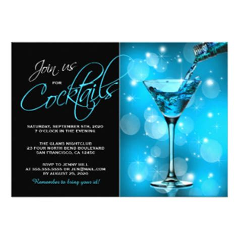 cocktail cards template cocktail invitations announcements zazzle co uk