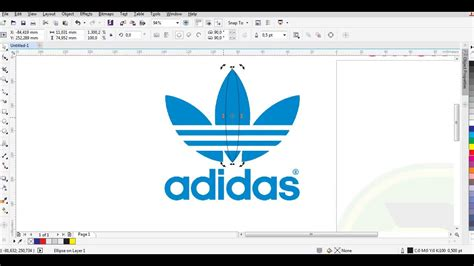tutorial logo adidas coreldraw tutorial corel draw membuat logo adidas quot bagi pemula youtube