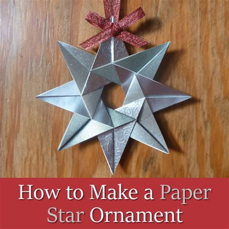 How To Make Paper Ornament - how to make a paper ornament for