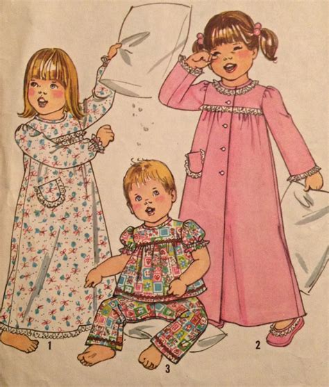 kimono nightgown pattern child sleepwear sewing pattern toddler nightgown pajamas
