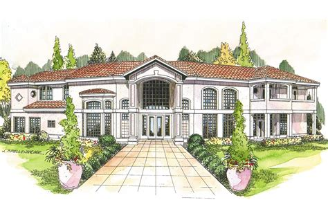 mediterranean home plans with photos one story mediterranean house plans