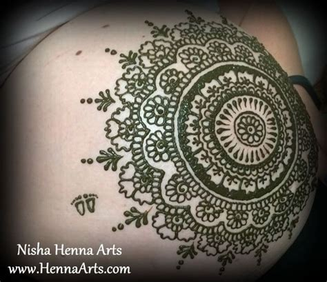 henna tattoo and showering henna on belly henna for baby