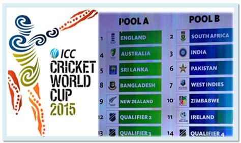 2015 cricket world cup match schedule cricket world cup 2015 match schedule snipping world