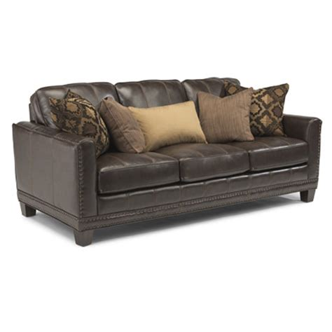 flexsteel sectional leather flexsteel 1373 31 port royal leather sofa discount