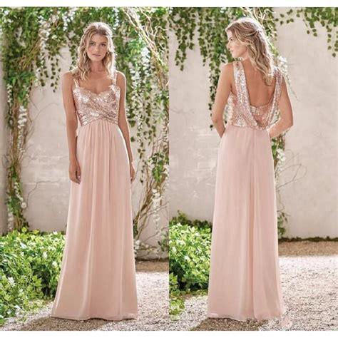 rose themed wedding dress aliexpress com buy 2017 new rose gold bridesmaid dresses