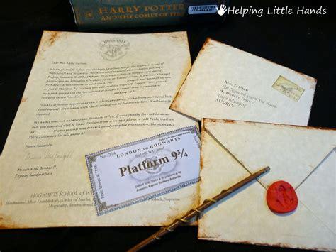 Harry Potter Acceptance Letter Diy Inspirational Harry Potter Birthday Ideas