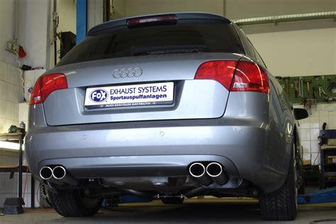 Auspuffanlage Audi A4 8e by Fox Sportauspuff V2a Auspuffanlage Duplex Gruppe A Typ 32