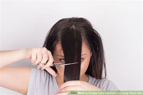 hairstyles for long straight hair wikihow 3 ways to thin hair wikihow 3 ways to create cute