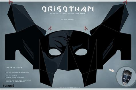 How To Make Batman Mask Out Of Paper - fold your own rises masks vulture