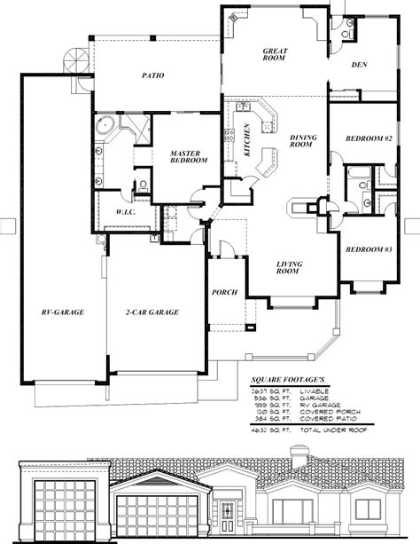 rv garage floor plans sunset homes of arizona home floor plans custom builder rv