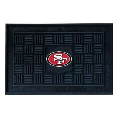 doors open sf giants fanmats san francisco 49ers 18 in x 30 in door mat 11454