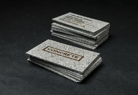 concrete business cards 50 hand crafted business cards for your inspiration noupe