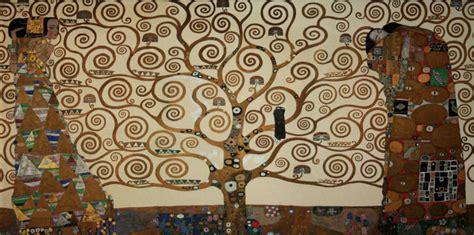 baum cycles paintings gustav klimt print on canvas 100 x 50 cm the