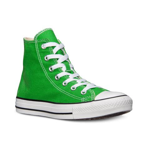 green converse sneakers converse mens chuck high top casual sneakers from