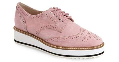 pink oxford shoes shellys platform oxford shoes in pink lyst