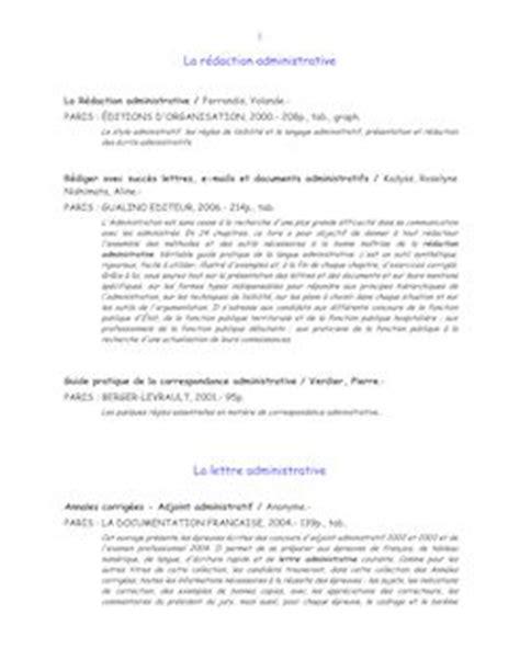 Présentation Lettre Administrative Concours La R 233 Daction Administrative La Lettre Administrative Fontes Cours