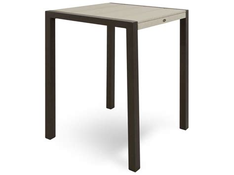 Surfboard Bar Table Trex 174 Surf City Recycled Plastic 30 Square Bar Table Tx8012