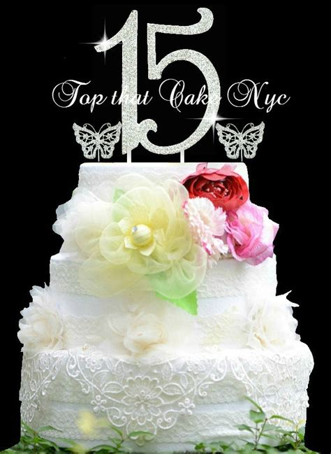 quinceanera cake topper blue mis quince anos quinceanera