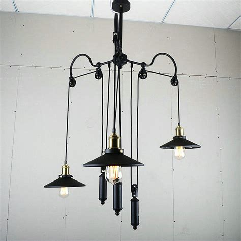 Pulley Pendant Light Fixture Unique Design Retro Loft Industrial Pulley Pendant L Dinning Room Light Fixture Restaurant