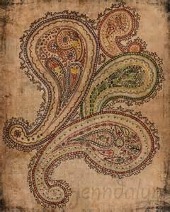 Jenndalyn art paisley art bohemian boho gypsy colorful wall art