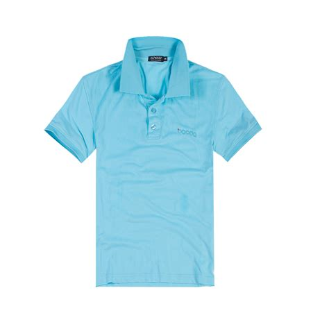 Casual Summer Polo Shirt Blue 2015 new breathable polo shirt blue summer fashion