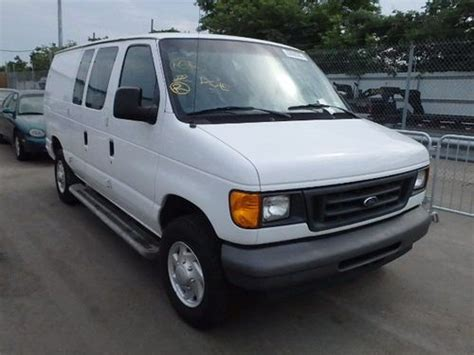 how does cars work 2007 ford e250 electronic throttle control purchase used 2007 ford e250 work van salvage rebuildable flood damaged repairable mechanics in