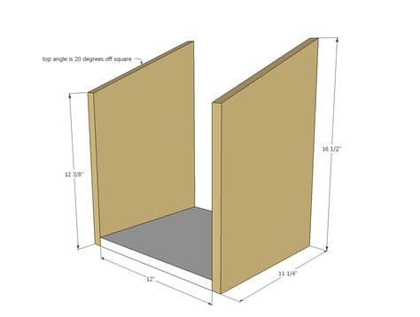 ana white nesting box single diy projects