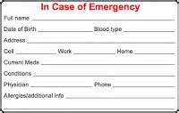emergency card template cycling skills in of emergency card